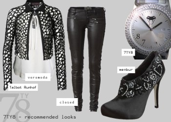 Fashion Look - Leder Chic