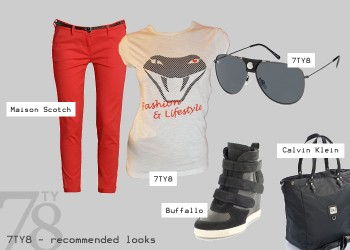 Fashion Look - Sporty Red