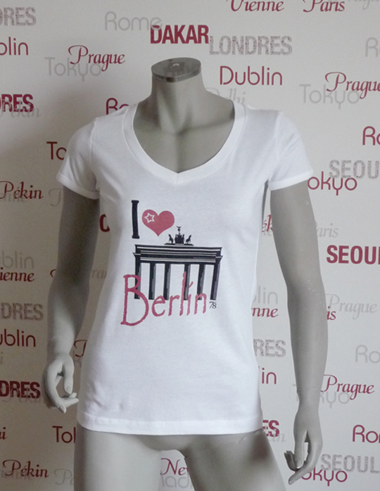 Städte Shirt Berlin -7TY8 I LOVE-Collection 'Berlin'