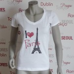 Städte Shirt Paris -7TY8 I LOVE-Collection 'Paris'
