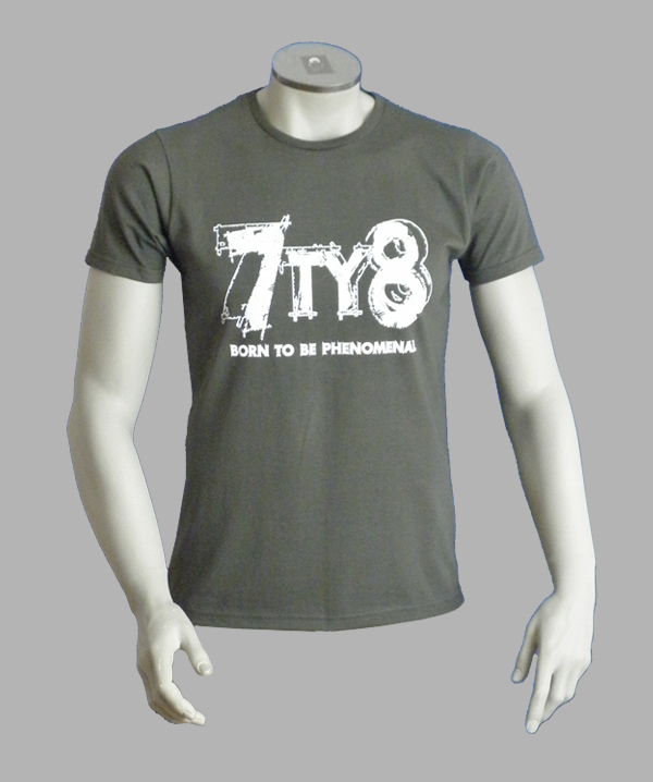 7TY8 Herren T-Shirt 'be phenomenal' - grau